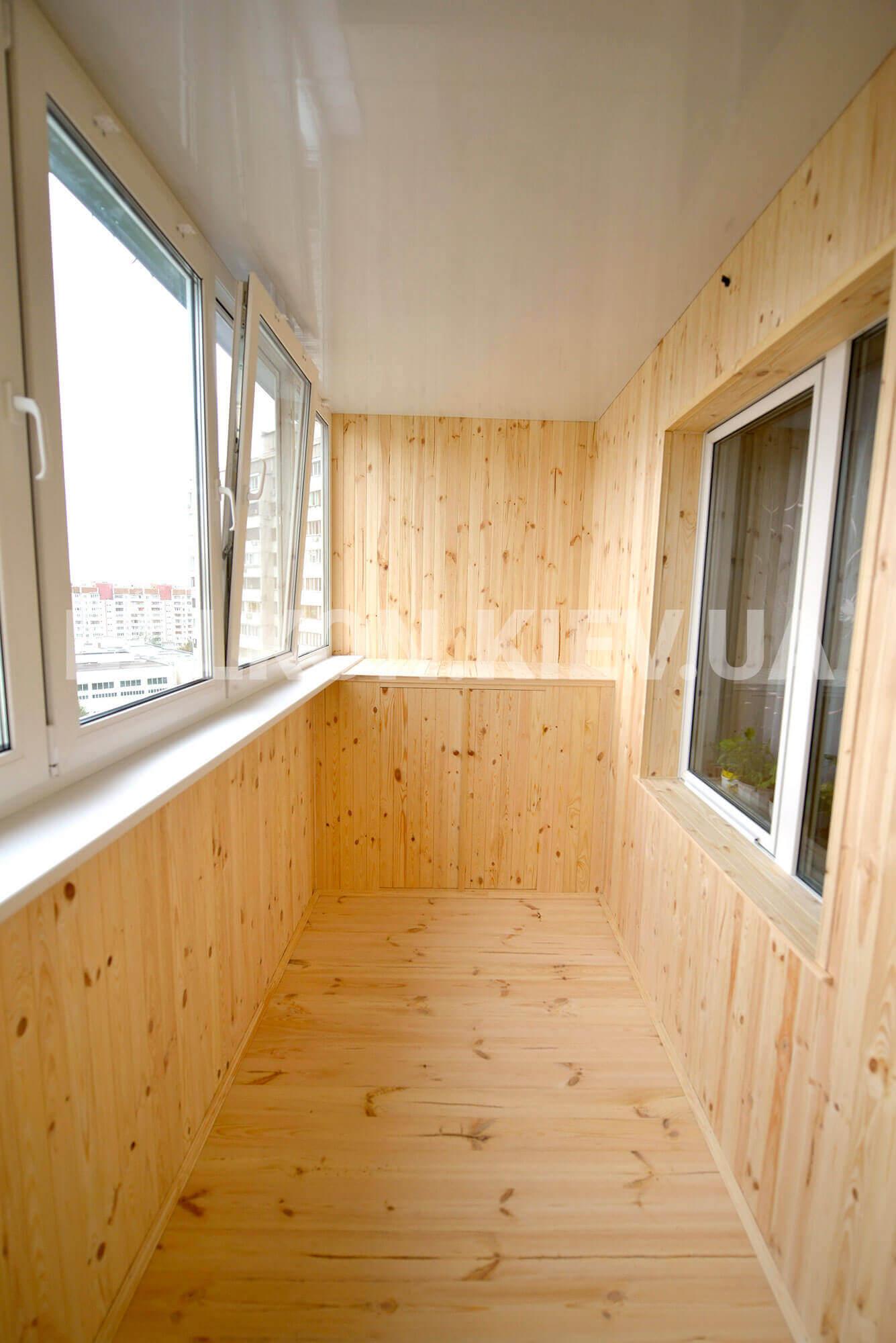 Зовнішня обшивка балкона, лоджії в києві - сайдингом, профна.